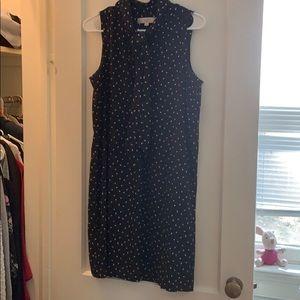 LOFT Dresses - Paw 🐾 Print Shift Dress with Necktie from LOFT